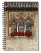 Row Of Windows In Treviso Italy Spiral Notebook