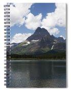 Rowboat At Many Glacier Spiral Notebook