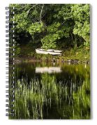 Rowboat Moored On The Bank Of A Lake Spiral Notebook