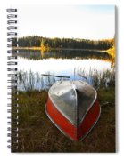 Rowboats At Jade Lake In Northern Saskatchewan Spiral Notebook