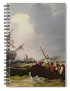 Rowing Boat Going To The Aid Of A Man-o'-war In A Storm Spiral Notebook
