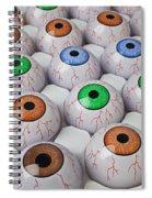 Rows Of Eyeballs Spiral Notebook