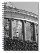 Royal Conservatory In Brussels - Black And White Spiral Notebook