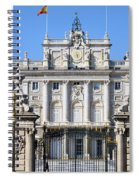 Royal Palace In Madrid Spiral Notebook