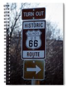 Rt 66 Il Turn Out Signage Spiral Notebook