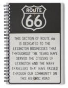 Rt 66 Lexington County Signage Spiral Notebook