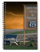 Rt 66 Towanda Signage Spiral Notebook