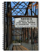 Rube Nelson Bridge 3 Spiral Notebook