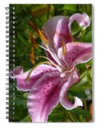 Rubrum Lily Spiral Notebook