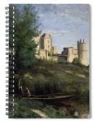 Ruins Of The Chateau De Pierrefonds Spiral Notebook