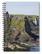 Ruins On Coastal Cliff Spiral Notebook