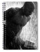 Runner In The Spray Spiral Notebook