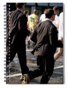 Running Suits Color Spiral Notebook