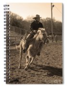 Running The Horse Spiral Notebook