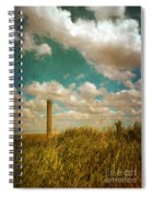 Rural Barbed Wire Fence Spiral Notebook
