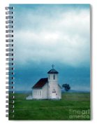 Rural Church With Stormy Sky Spiral Notebook