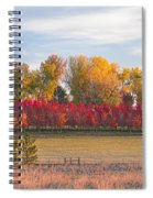Rural Country Autumn Scenic View Spiral Notebook