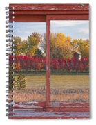 Rural Country Autumn Scenic Window View Spiral Notebook