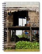 Rural Fishermen Houses In Cambodia Spiral Notebook