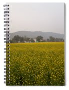 Rural Landscape With A Field Of Mustard Spiral Notebook