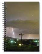 Rural Lightning Striking Spiral Notebook