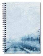 Rural Road In Winter Spiral Notebook