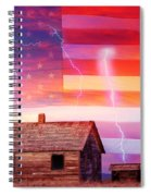 Rural Rustic America Storm Spiral Notebook