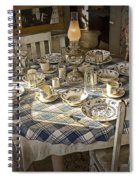 Rural Table Setting For Four No.3121 Spiral Notebook