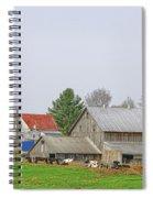 Rural Vermont Farm Scene Spiral Notebook