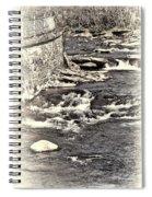 Rushing Water Cream Spiral Notebook