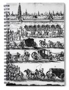 Russia: Procession, 1698 Spiral Notebook