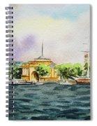 Russia Saint Petersburg Neva River Spiral Notebook