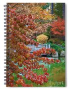 Rust Colored Leaves Over Autumn Pond Spiral Notebook