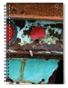 Rusted Blue Taillight Spiral Notebook