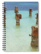 Rusted Iron Pier Dock Spiral Notebook