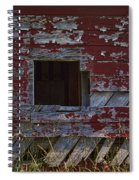 Rustic Barn Red Peeling Paint Spiral Notebook