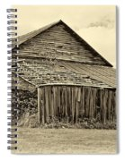 Rustic Charm Sepia Spiral Notebook