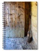Rustic Door And Broom Spiral Notebook