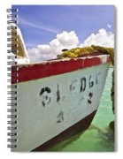 Rustic Fishing Boat Sledge Of Aruba Spiral Notebook
