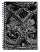 Rustic Iron Spiral Notebook