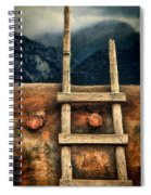 Rustic Ladder On Adobe House Spiral Notebook