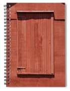 Rustic Red Barn Door With Two White Wood Windows Spiral Notebook