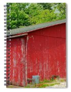 Rustic Red Spiral Notebook