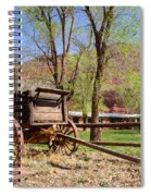 Rustic Wagon At Historic Lonely Dell Ranch - Arizona Spiral Notebook