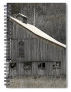 Rustic Weathered Mountainside Cupola Barn Spiral Notebook