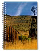 Rustic Windmill Spiral Notebook