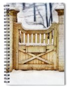 Rustic Wooden Gate In Snow Spiral Notebook