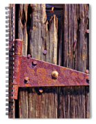 Rusty Barn Door Hinge  Spiral Notebook
