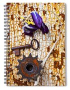 Rusty Key And Gear Spiral Notebook