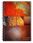 Rusty Metal Canvas Spiral Notebook